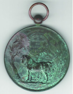 reverse: BELGIO - Leopoldo II - Comizio agricolo 1900