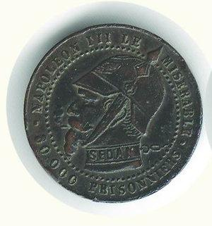 obverse: FRANCIA - Napoleone III - Gettone satirico