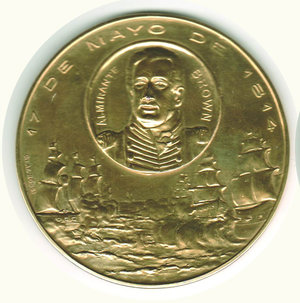obverse: ARGENTINA Gen. Alvear  - Amm. Brown - 17/05/1814