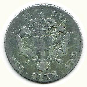 reverse: GENOVA - 2 Lire 1747