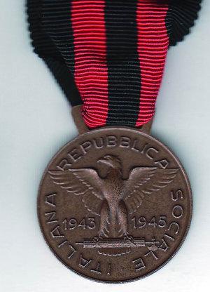 reverse: RSI - D/ Busto Mussolini laureato