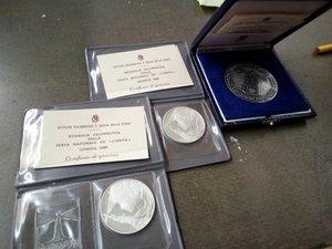 obverse: REPUBBLICA ITALIANA lotto di 3 medaglie d argento