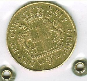 reverse: GENOVA - Dogi Biennali III fase - 96 Lire 1795