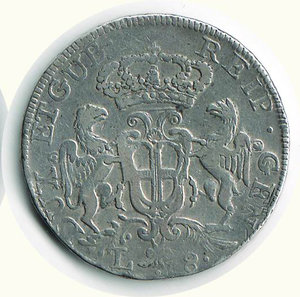 reverse: GENOVA - Dogi Biennali - 8 Lire 1792