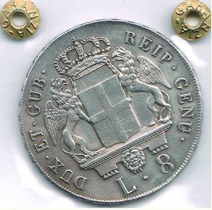 reverse: GENOVA - Dogi Biennali - 8 Lire 1795