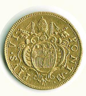 obverse: Bologna - Pio VI (1775-1779) - Doppio Zecchino 1786