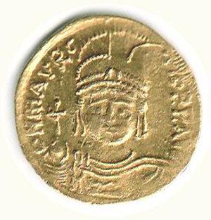 obverse: GRECIA - Costantinopoli - Maurizio Tiberio (582-602) - Solido
