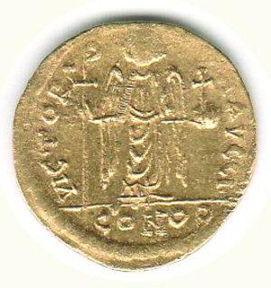 reverse: GRECIA - Costantinopoli - Maurizio Tiberio (582-602) - Solido