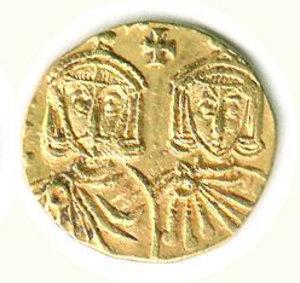 reverse: GRECIA - Impero bizantino - Costantino V e Leone IV - Solido