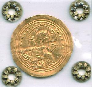 obverse: GRECIA - Basilio II (976-1025) con Costantino VII - Histamennon Nomisma