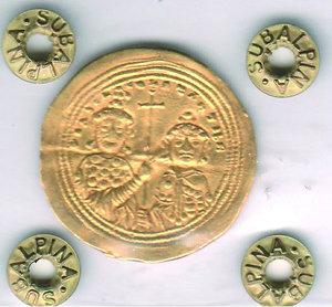 reverse: GRECIA - Basilio II (976-1025) con Costantino VII - Histamennon Nomisma