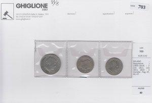 obverse: MILANO Napoleone I - 3 monete