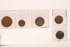 obverse: SAVOIA - monetazione per la Sardegna .Lotto di 5 monete tra cui si nota un 3 Vagliaresi di Carlo Em. III 1741 e un 1/2 Reale di V.Amedeo III 1786, da esaminare.