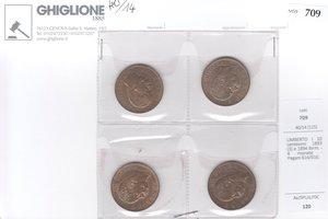 obverse: UMBERTO I 10 centesimi 1893 (3) e 1894