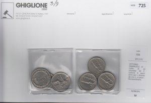 obverse: VITTORIO EMANUELE III lotto di 10 monete