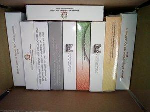 obverse: REPUBBLICA ITALIANA 10 Serie annuali in cofanetto conf.zecca, anni 2003/2010 - 2012/2013.