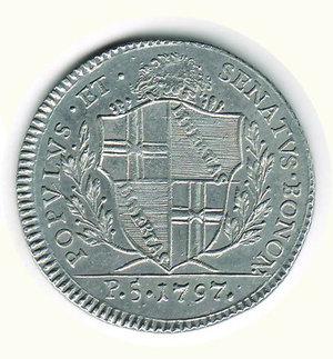 reverse: Bologna - Governo popolare - 5 Paoli 1797