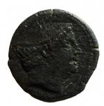 obverse: Repubblica Romana. Serie anonima. 217-215 a.C.Semuncia. Ae. D/ Testa diMercurio a destra. R/ Prora di nave verso destra, sopra ROMA. Cr. 38/7. Peso 6,82 gr. Diametro19 mm.MB.