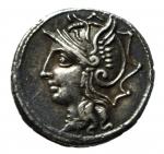 obverse: Repubblica Romana. Gens Appuleia. L.Appuleius Saturninus. 104 a.C. Denario. Ag. D\ Testa di Roma a sinistra, davanti. R\ L SATVRN Giove su quadriga verso destra. Cr.317/3. Peso 4,00 gr. Diametro 17,56 mm. SPL.