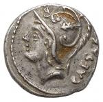 obverse: Repubblica Romana - Gens Julia. L. Iulius L.f. Caesar. 103 a.C.Denario. Ag.D/ CAESAR. Testa di Marte a sinistra. Sopra letteraR/ Venere su biga a sinistra, trainata da due Cupidi. Davanti lira. Sopra lettera. In esergo: L. IVLI. L. F. Peso gr. 3,95. Diametro mm. 16,2. qSPL. Bellissima leggera patina.