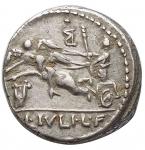reverse: Repubblica Romana - Gens Julia. L. Iulius L.f. Caesar. 103 a.C.Denario. Ag.D/ CAESAR. Testa di Marte a sinistra. Sopra letteraR/ Venere su biga a sinistra, trainata da due Cupidi. Davanti lira. Sopra lettera. In esergo: L. IVLI. L. F. Peso gr. 3,95. Diametro mm. 16,2. qSPL. Bellissima leggera patina.