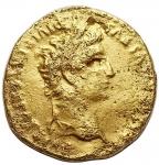 obverse: Impero romano - Augusto. 27 a.C - 14 d.C.Aureo.AU.D/ CAESAR AVGVSTVS DIVI F PATER PATRIAE. Testa laureata a destra.R/ C L CAESARES (in esergo) AVGVSTI F COS DESIG PRINC IVVENT. Gaio e Lucio cesari togati e stanti di fronte, si appoggiano oguno a uno scudo; dietro ciascuno scudo, lancia. Sopra, simpulum e lituus.RIC 206. Peso gr. 5,32. Diametro mm. 18,4 x 18,8. MB.RR.