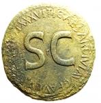 obverse: Impero Romano. Augusto. 27 a.C - 14 d.C. Sesterzio, emesso da Tiberio. Ae. D/ DIVO AVGVSTO SPQR. Augusto seduto a sinistra su carro trainato da quattro elefanti montati. R/ TI CAESAR DIVI AVG F AVGVST PM TR POT XXXVII intorno a grande SC.RIC (Tib.) 62. Peso 22,20 gr. Diametro 33,76 mm. MB. R. __