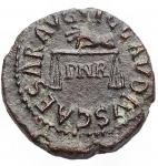 obverse: Impero Romano - Claudio. 41-54 d.C.Quadrante. Ae. D/ TI CLAVDIVS CAESAR AVG Mano che tiene una bilancia, tra i piatti PNR. R/ PON M R P IMP PP COS II intorno ad SC. Ric. 91.Peso 3,27 gr. qSPL.