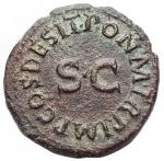 reverse: Impero Romano - Claudio. 41-54 d.C.Quadrante. Ae. D/ TI CLAVDIVS CAESAR AVG Mano che tiene una bilancia, tra i piatti PNR. R/ PON M R P IMP PP COS II intorno ad SC. Ric. 91.Peso 3,27 gr. qSPL.