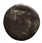 reverse: Mondo Greco. Bruttium. Crotone. II sec. a.C. 1\3 di Statere. Ag. D/ Tripode QPO. R/ KPO Tripode in incuso. BMC.3. Peso 2,12 gr. Diametro 13,00 mm. MB+. Patina. R.__