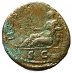 reverse: Impero Romano . Adriano. 117-138 d.C. Asse. Ae. 134-138 d.C. R/ HISPANIA. Ric II 852 var. Peso gr. 9,21. Diametro mm. 25,5. qBB. ex Tintinna 73 lotto 219 aggiudicata ma non pagata.R.