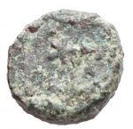 reverse: Bizantini - Anastasio. 491-518 d.C. Nummo. Ae. D/ Busto diademato a destra. R/ Monogramma. Peso gr. 1,45. qBB.