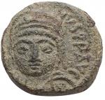 obverse: Bizantini - Giustiniano I. Ravenna.527-565 d.C. Decanummo. Ae. 538-565 d.C. DOC 368; Sear 336. Peso gr. 3,25. Diametro mm. 15,5 x 14,9. qSPL. Patina verde.