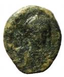 obverse: Bizantini. Leontius. 695-698 d.C. Decanummo.AE. Ravenna. D\ [D LE]ON PE AV. Busto frontale. R\ Grande I ANN C II. Peso gr. 2,55. Diametro mm. 17,00. BB. RRR.