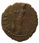 reverse: Barbari. Imitativa degli imperatori romano gallici. Peso 1,65 gr. BB.