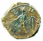 reverse: Barbari. Imitativa degli imperatori romano gallici Tetrico. Peso 5,45 gr.BB+. Moneta di peso eccedente e di ottimo stile per la tipologia.