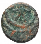reverse: Barbari - Vandali. Guntamundo. 484-496 d.C.Nummo. Ae. D/ Busto verso destra. R/ Cristogramma in corona. Peso 0,48 gr. MB+.