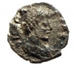 obverse: Barbari. Teodorico. 494-526 d.C. 1/4 di Siliqua a nome di Anastasio. Ag. D/ Busto verso destra. R/ Monogramma. Zecca di ravenna. Ran.251 p.82. Peso 0,60 gr. Diametro 11,42 mm. BB+. RRR.__