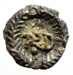 reverse: Barbari. Teodorico. 494-526 d.C. 1/4 di Siliqua a nome di Anastasio. Ag. D/ Busto verso destra. R/ Monogramma. Zecca di ravenna. Ran.251 p.82. Peso 0,60 gr. Diametro 11,42 mm. BB+. RRR.__