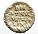 reverse: Barbari. Ostrogoti in Italia. Atalarico. 526-534 d.C. Quarto di siliqua al nome di Giustino I. Ag. Roma o Ravenna. D/ DN IVSTINVS AVG. Busto diademato, drappeggiato e corazzato a destra. R/ DN / ATHAL / ARICVS / REX entro corona. Cfr. Kraus 114,32 e MIB 52b. Peso gr. 0.69. Diametro mm. 11.00. qSPL. R. __
