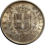 reverse: Casa Savoia. Vittorio Emanuele II. 1 Lira 1863 M. qFDC/FDC. Delicata patina su fondi lucenti.rf