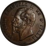 obverse: Casa Savoia. Vittorio Emanuele II. 10 Centesimi 1866N. qFDC.rf
