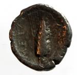 reverse: Mondo Greco. Lucania. Metaponto. 280-270 a.C. Diobolo. Ag. D/ Testa di Atena a destra. R/ Spiga di grano, META nel campo a sinistra. Peso 1,09 gr. Diametro 12 mm. MB.
