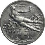 reverse: Casa Savoia. Vittorio Emanuele III. 20 Centesimi Librata 1919. SPL-FDC. NC.rf