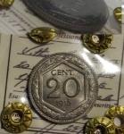 reverse: Casa Savoia. Vittorio Emanuele III. 20 Centesimi Esagono 1918 C/ Rigato. Periziato FDC con la nota