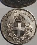 obverse: Casa Savoia. Vittorio Emanuele III. 20 Centesimi Esagono 1919. C/ Rigato. Evidenti tracce della moneta sottostante. rf