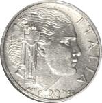reverse: Casa Savoia. Vittorio Emanuele III. 20 Centesimi 1939 XVII Antimagnetica. FDC. rf