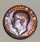 obverse: Casa Savoia. Vittorio Emanuele III. 10 Centesimi 1935. FDC. Rame rosso, eccezionale al rovescio. rf
