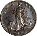 reverse: Casa Savoia. Vittorio Emanuele III. 5 Centesimi 1909. qFDC/FDC. NC.rf