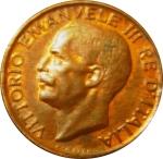 obverse: Casa Savoia. Vittorio Emanuele III. 5 Centesimi 1923. qFDC/FDC rosso. Ex Inasta 66 L.6061 .rf